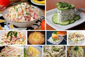 Топ-10 самых быстрых салатов от Лилии К! Готовятся за 10 минут