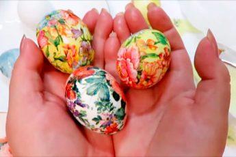 Необычный и быстрый способ оформления Пасхальных яиц, с которым справятся даже дети