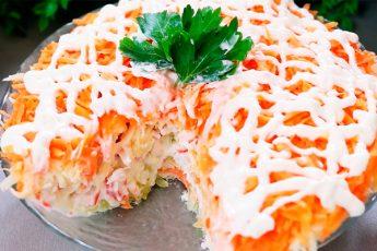 Вкусный и бюджетный салат «Бархатный»