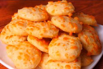 Много вкусного печенья из стакана кефира и кусочка сыра