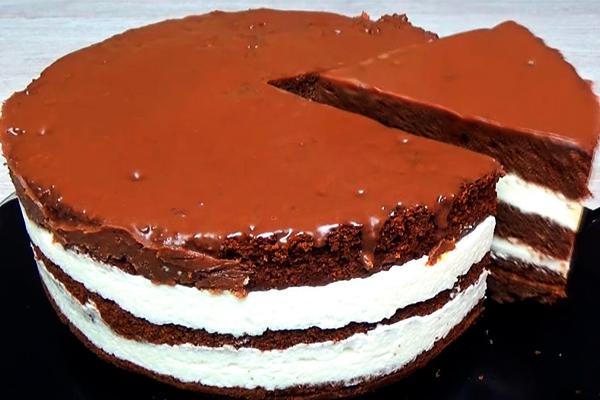 Простой и бюджетный торт «Милка»