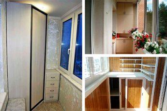 Топ-30 идей как сделать шкафчики на балкон
