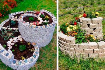 Спиральные клумбы с камнями: идеи для творчества