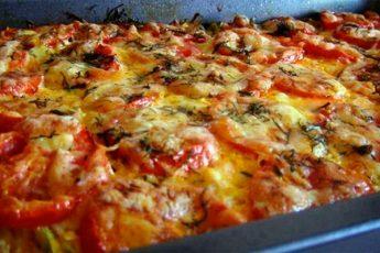 Запеканка из кабачков с фаршем и помидорами. Бесподобное, вкусное блюдо