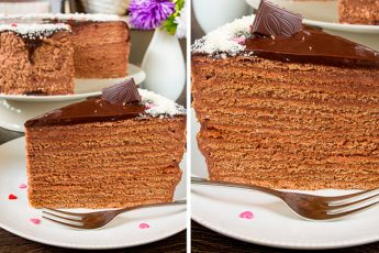 Шоколадно-медовый торт. Самый вкусный из медовиков