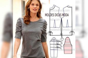 Простые в пошиве трикотажные блузы