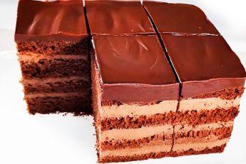 Простой и вкусный шоколадный торт с творожным кремом