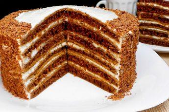 Шоколадный торт «Капучино» без духовки