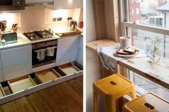 Уместить всё! Жизненно важные секреты маленькой кухни