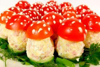 Нежная праздничная закуска «Грибочки мухоморчики»
