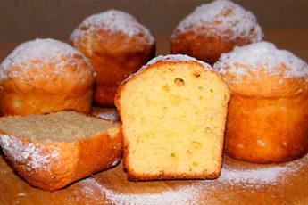 Творожный кекс: очень вкусная выпечка