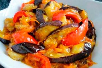 Легкая закуска для вашей талии — баклажаны в кисло-сладком соусе