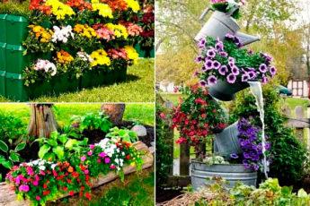 Клумбы, которые украсят сад на весь сезон