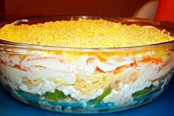На работе угостили обалденным салатиком, ну очень вкусный!