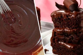 Шоколадный пирог на кефире на скорую руку