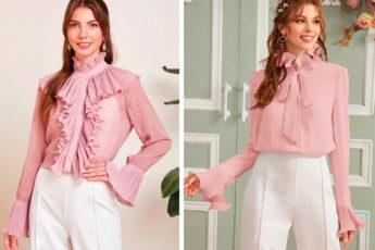 Красивые блузки, которые гарантирую элегантный и дорогой вид: идеи для пошива