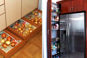 Ящики, которые подарят вашей кухне дополнительное пространство. Гениальный дизайн