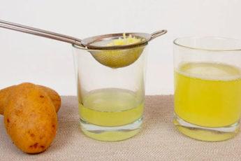 Картофельный сок для красоты волос