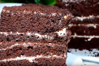 Ленивый шоколадный бисквит «Шоколад на кипятке» — старый вкусный рецепт