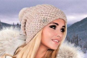 3 красивые модные шапки, связанные английской резинкой