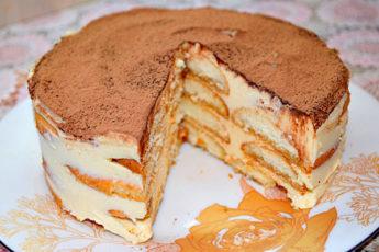 Торт «Тирамису» (без сырых яиц)