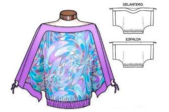 Нарядные блузки с простыми выкройками